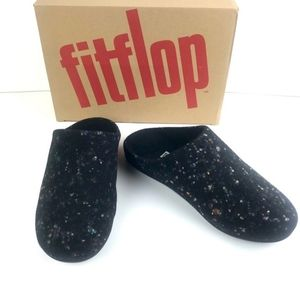 NIB Fitflop Chrissie Speckle Wool Slippers Size 9